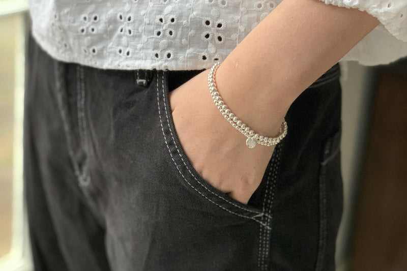 Samra Silver Stretchy Bracelet Duo - Boho Betty