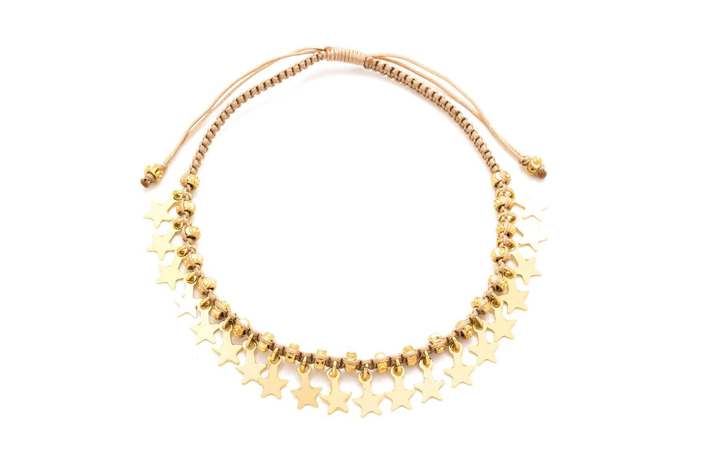 Tombak Multi Star Gold Bracelet - Boho Betty