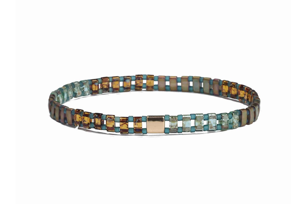 Vogue Tila Beaded Stretch Bracelet - Boho Betty