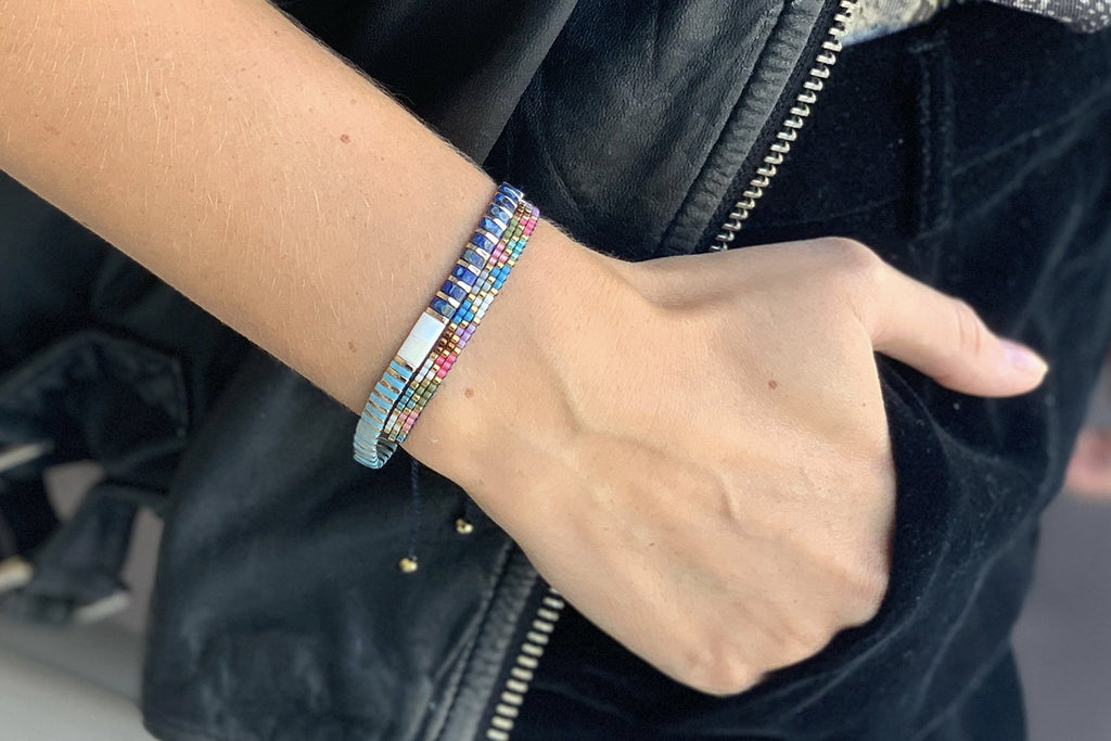 Fever 3 Row Multi coloured Friendship Bracelet