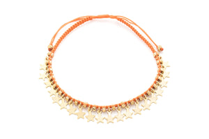Tombak Multi Star Orange Bracelet
