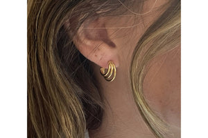Thurman Gold Triple Half Hoop Earrings