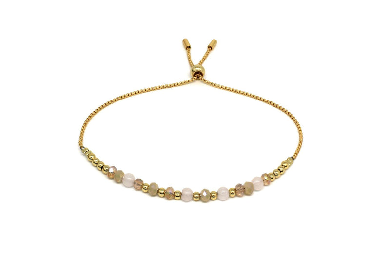 Foxtrot Gold Crystal Friendship Bracelet - Boho Betty