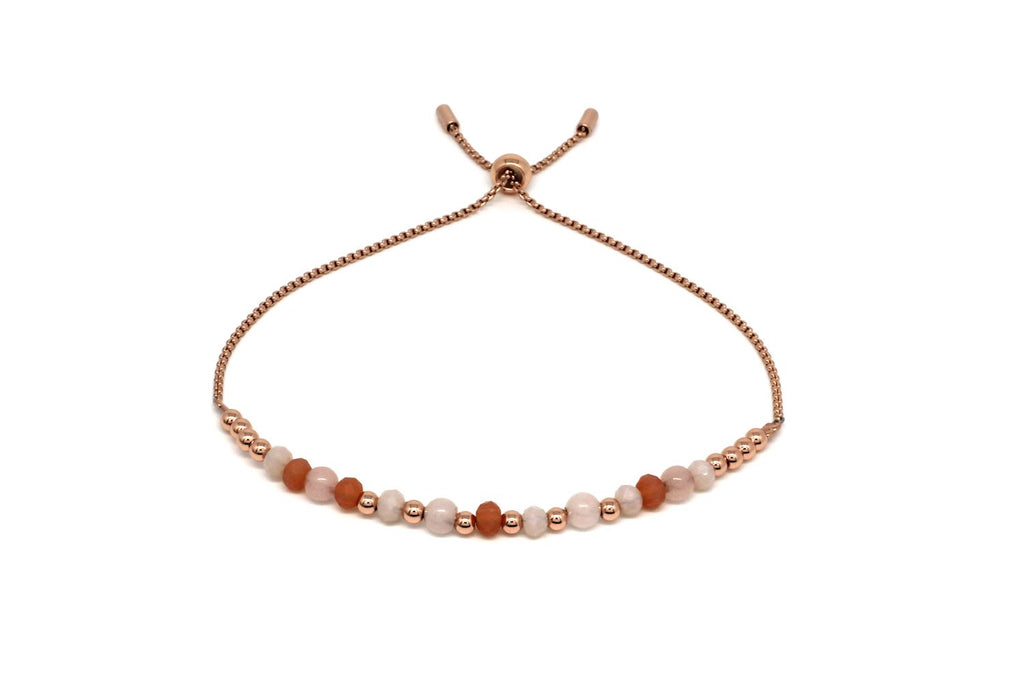 Foxtrot Rose Gold Crystal Friendship Bracelet - Boho Betty