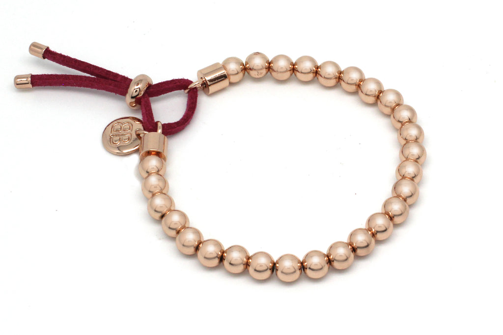 Halay Rose Gold Stretchy Bracelet - Boho Betty