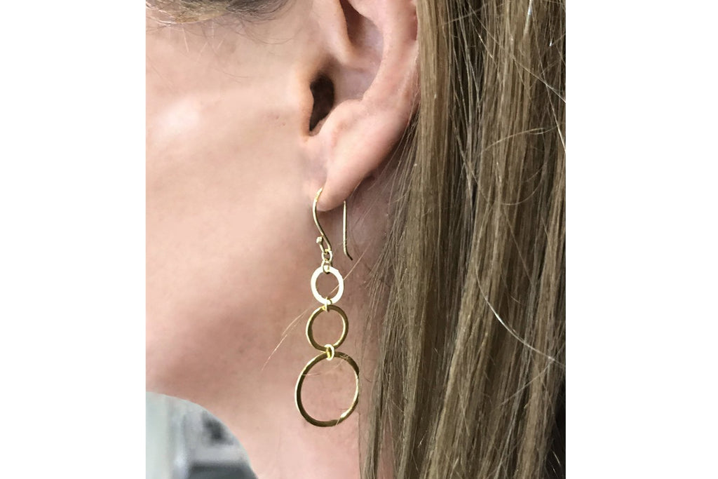 Lockwood Gold 3 Circle Earrings - Boho Betty