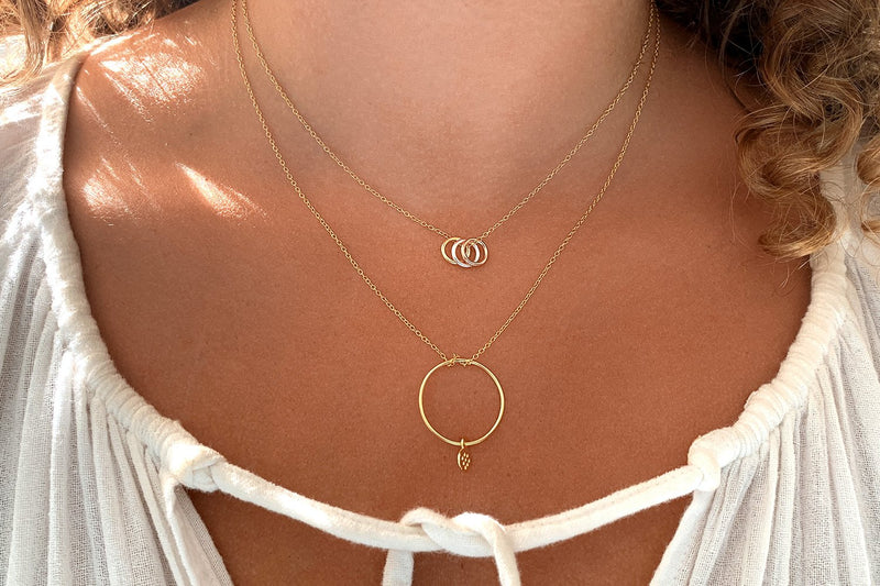 Amarula Gold Circle & Disc Necklace