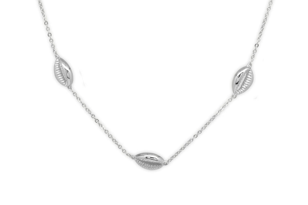 Paloma Silver Triple Shell Choker - Boho Betty