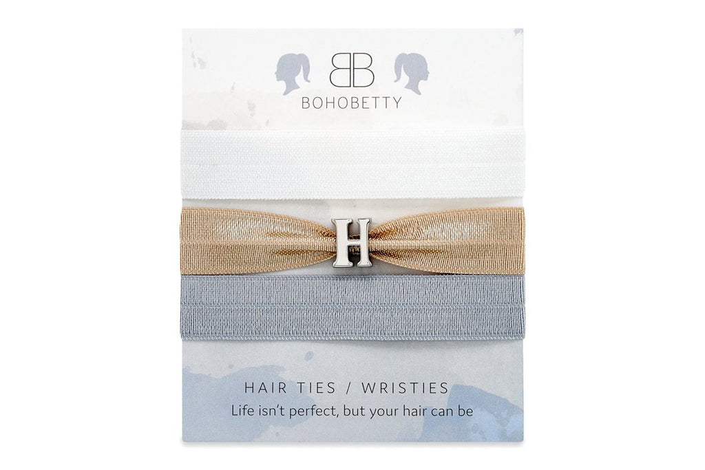Neutral Letter Hair Tie Set - Boho Betty