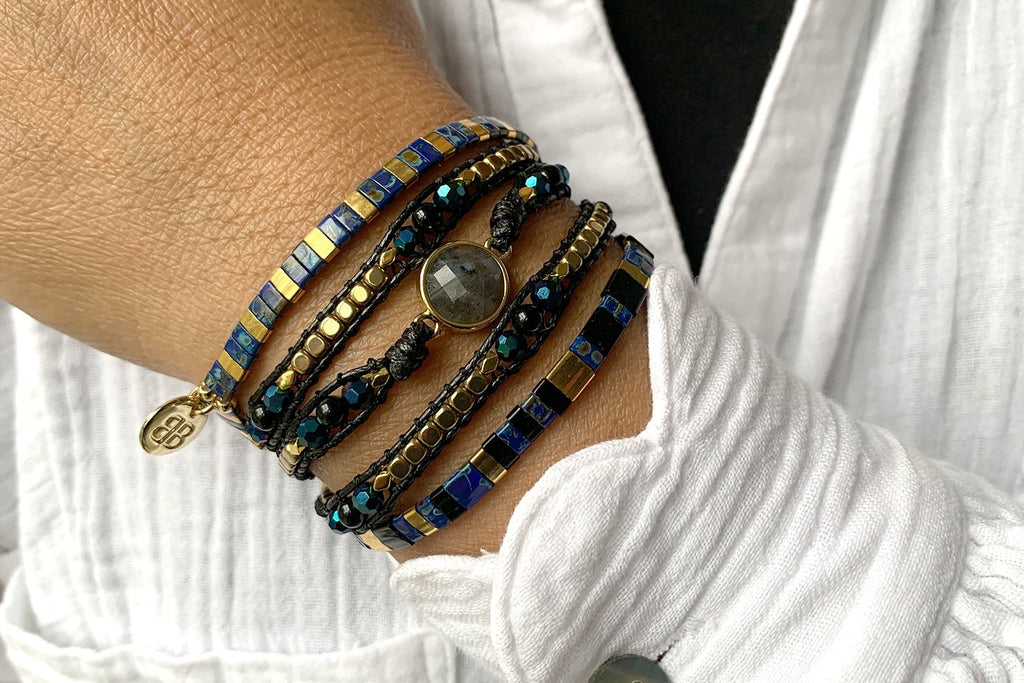 Dallas 3 Layered Bracelet Stack - Boho Betty