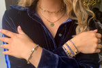 Hanoi Navy 3 Layered Bracelet Stack - Boho Betty