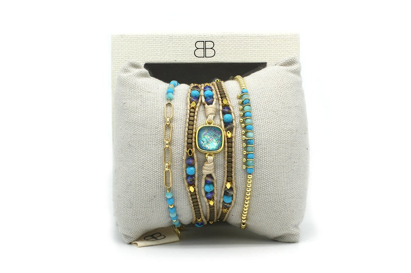 Melbourne 3 Layered Bracelet Stack - Boho Betty