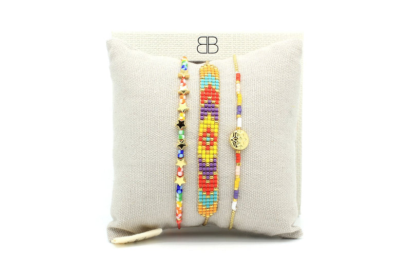 Clausena Multicolour Miyuki Bead Friendship Bracelet - Boho Betty