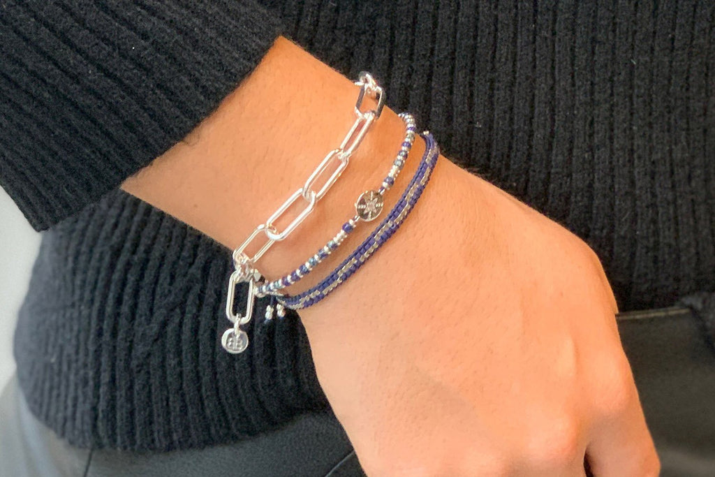 Mykonos 3 Layered Bracelet Stack - Boho Betty