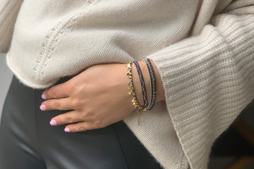 Naxos 3 Layered Bracelet Stack - Boho Betty