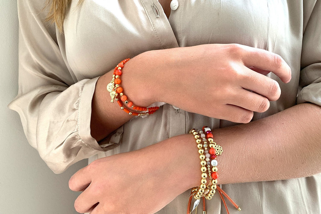 Cheakamus 3 Layered Gold Bracelet Stack - Boho Betty