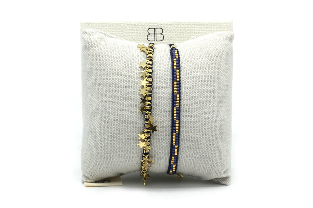 Hamburg 2 Layered Bracelet Stack - Boho Betty