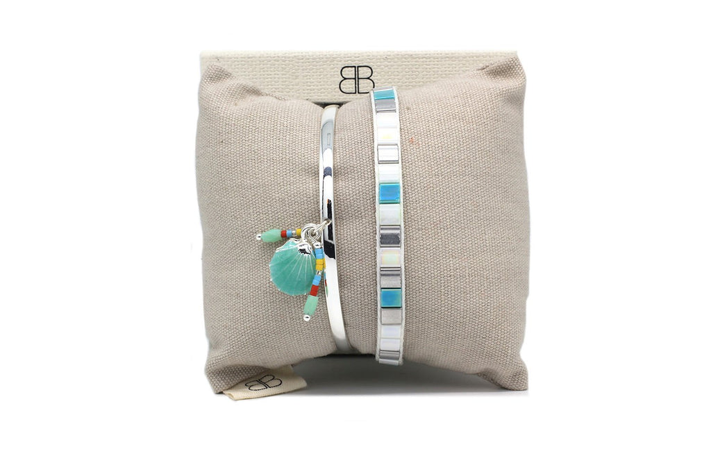 Galdho Peak Mint 2 Layer Bracelet Stack - Boho Betty