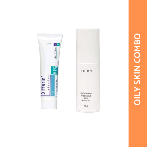 OILY/COMBINATION SKIN COMBO: NIHON FACE CREME + ADAPALENE 15G