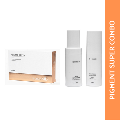 PIGMENT SUPER COMBO: NANO MD + NIHON FACE CREME + NIHON NIGHT REPAIR CREME