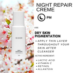 PIGMENT COMBO: OXITHION + NIHON FACE CREME + NIHON NIGHT REPAIR CREME