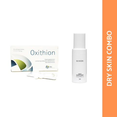 DRY SKIN COMBO: OXITHION + NIHON NIGHT REPAIR CREME