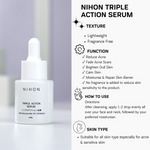 ACNE SCAR COMBO: NIHON TRIPLE ACTION SERUM + ADAPALANE 15G