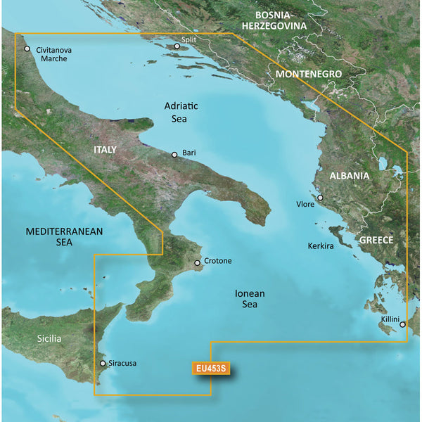 Garmin BlueChart g3 Vision HD - VEU453S - Adriatic Sea, South Coast - microSD/SD [010-C0797-00]