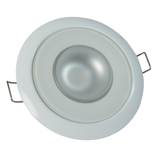 Lumitec Mirage - Flush Mount Down Light - Glass Finish/White Bezel - 4-Color White/Red/Blue/Purple Non-Dimming [113120]