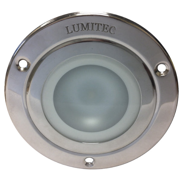 Lumitec Shadow - Flush Mount Down Light - Polished SS Finish - 3-Color Red/Blue Non Dimming w/White Dimming [114118]