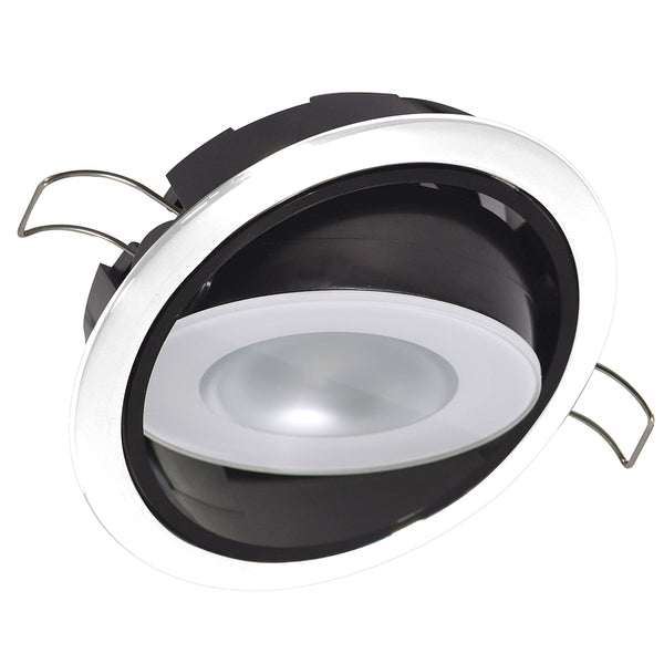 Lumitec Mirage Positionable Down Light - White Dimming, Red/Blue Non-Dimming - White Bezel [115128]