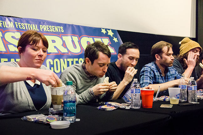 Elijah Wood winning the Chattanooga Film Festival's Moon Pie eating contest