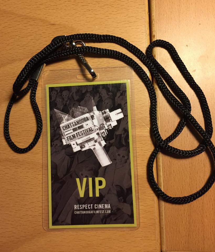 VIP badge from Chattanooga Film Festival 2015