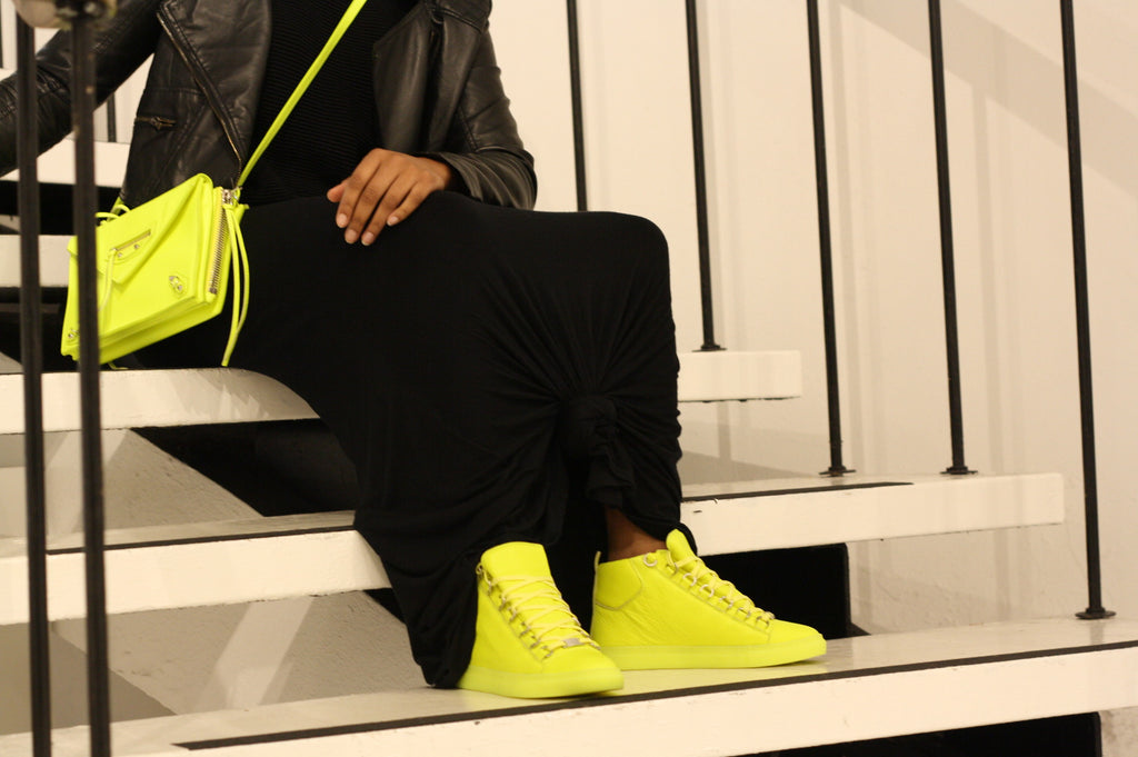 balenciaga neon shoes sneakers bag crossbody designer philadelphia item of the week