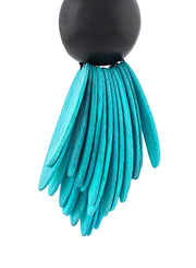 MONIES | Fringe Clip-On Earrings in Turquoise