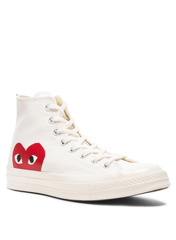 COMME DES GARÇONS PLAY | Unisex Chuck Taylor 1970s High-Top Sneakers in Beige