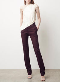 CALVIN KLEIN 205W39NYC | Coated Panel Wool & Silk Sliced Pants