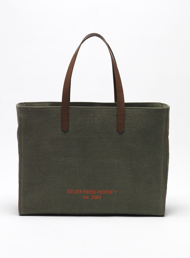 GOLDEN GOOSE | 'California' Canvas Tote Bag in Green