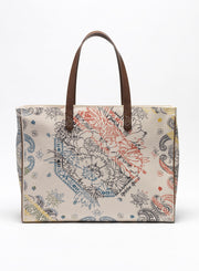 GOLDEN GOOSE | 'California' Canvas Tote Bag in Bandana Print