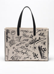 GOLDEN GOOSE | 'California' Canvas Tote Bag in Journey Print