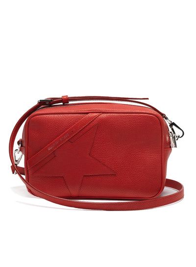 GOLDEN GOOSE | 'Star' Bag in Red Grained Calfskin