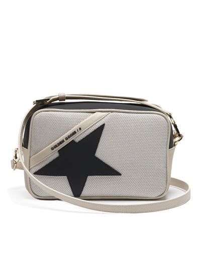 GOLDEN GOOSE | 'Star' Bag in Grey Mesh With Rubber & Calfskin
