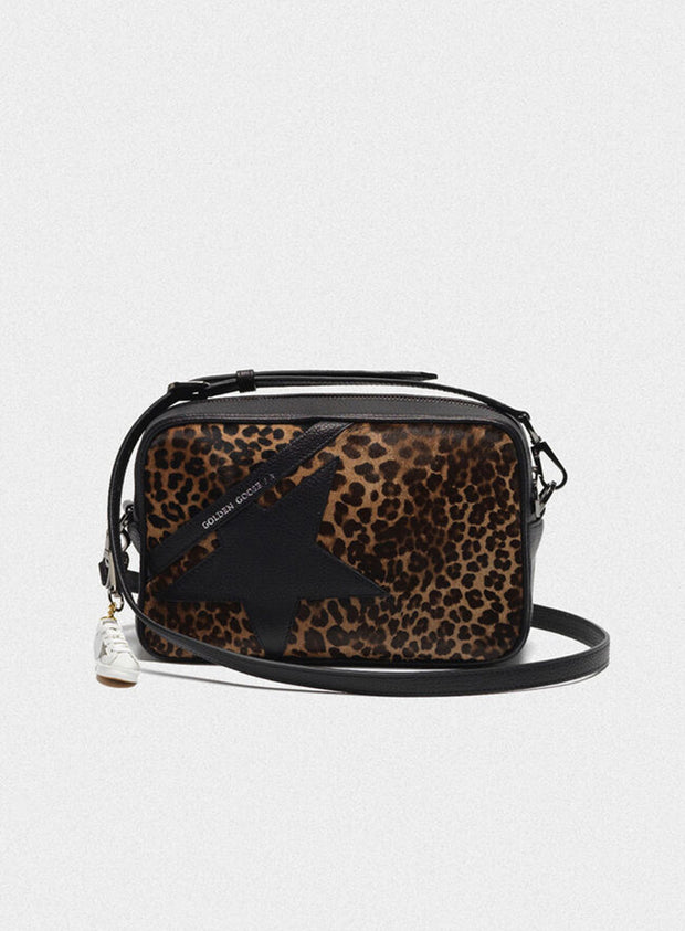 GOLDEN GOOSE | 'Star' Bag in Pony Calfskin/Leopard