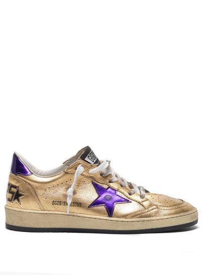 GOLDEN GOOSE | Champagne-Violet Ball Star Sneakers