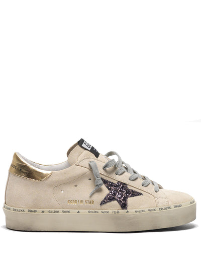 GOLDEN GOOSE | Pearl-Coco Suede Glitter Hi Star Sneakers