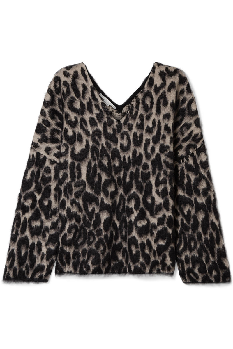 STELLA MCCARTNEY | Brushed Leopard V-Neck Sweater