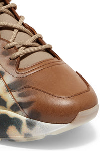 STELLA MCCARTNEY | Eclypse Leopard-Print Faux Leather Sneakers