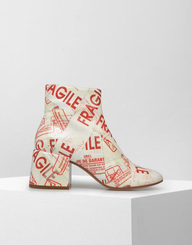 MM6 by Maison Margiela | FLARED HEEL FRAGILE ANKLE BOOTS