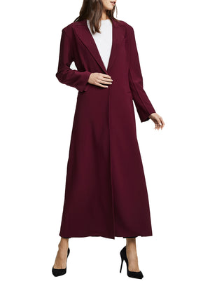 NORMA KAMALI | Single Breasted Robe in Plum