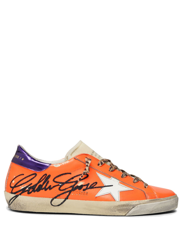 GOLDEN GOOSE | Shocking Orange Superstar Sneakers